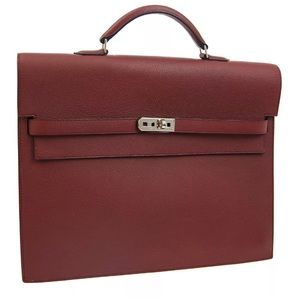 HERMES KELLY DEPECHE 34 Business Bag - Rouge